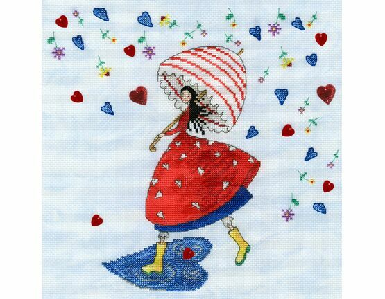 Flower Rain Fairy Cross Stitch Kit