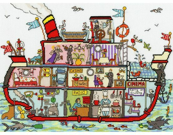 Cut Thru\' Cruise Ship Cross Stitch Kit