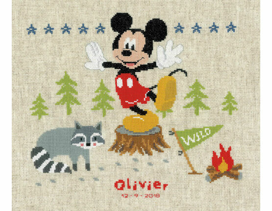 A Woodsy Adventure Birth Sampler Cross Stitch Kit
