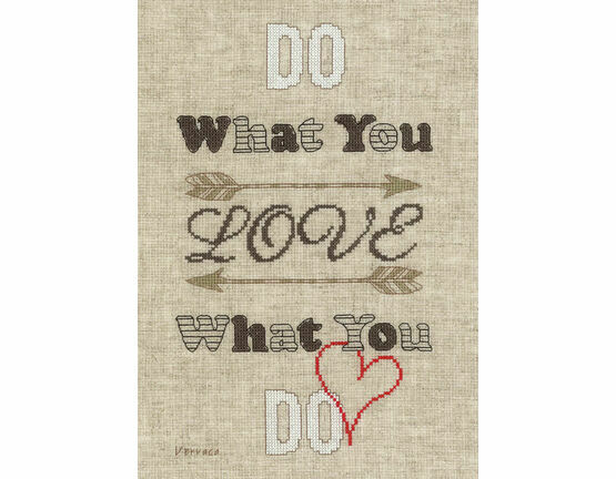 Do What You Love Cross Stitch Kit