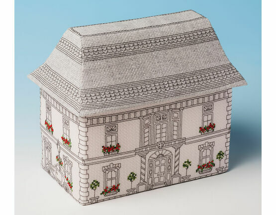 The Victorian Mansion Sewing Box 3D Cross Stitch Kit