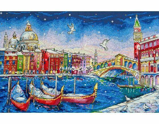 Holiday Venice Cross Stitch Kit