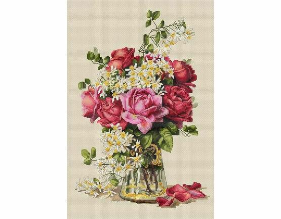 Roses Cross Stitch Kit