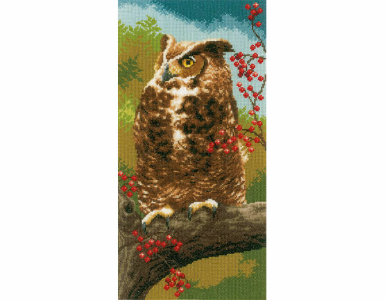 Owl In Autumn Cross Stitch Kit