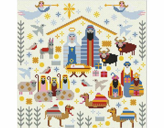 Christmas Nativity Sampler Cross Stitch Kit
