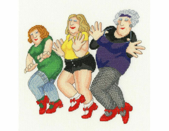 Dancing Class (Beryl Cook) Cross Stitch Kit