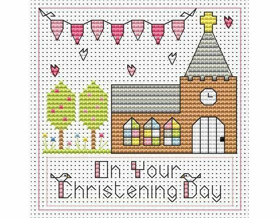Christening Day Girl Cross Stitch Card Kit