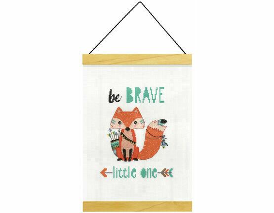 Be Brave Banner Cross Stitch Kit