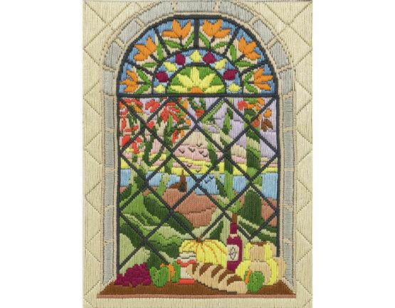 Autumn Through The Window Long Stitch Kit