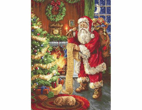 Santa\'s List Cross Stitch Kit