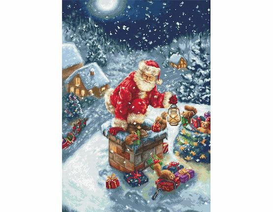 Santa\'s Chimney Cross Stitch Kit
