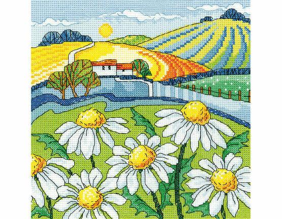 Daisy Landscape Cross Stitch Kit