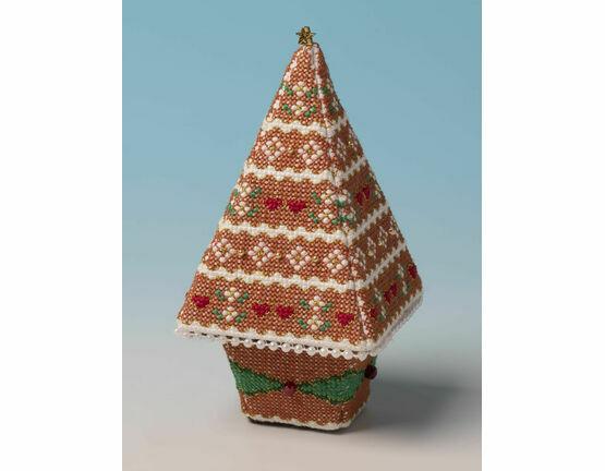 Gingerbread Tree 3D Cross Stitch Kit