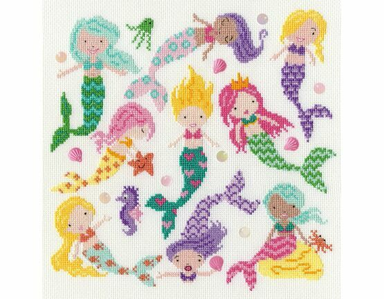 Slightly Dotty Mermaids Cross Stitch Kit