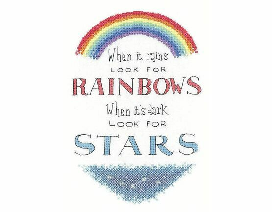 Look For Rainbows Cross Stitch Kit