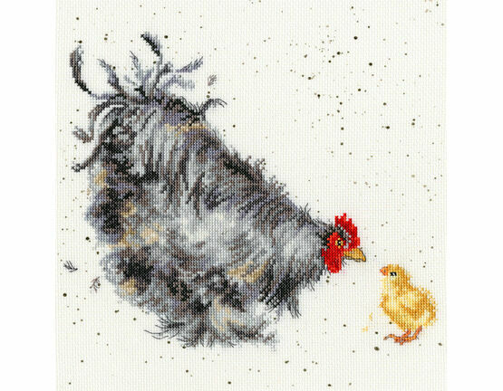 Mother Hen Cross Stitch Kit