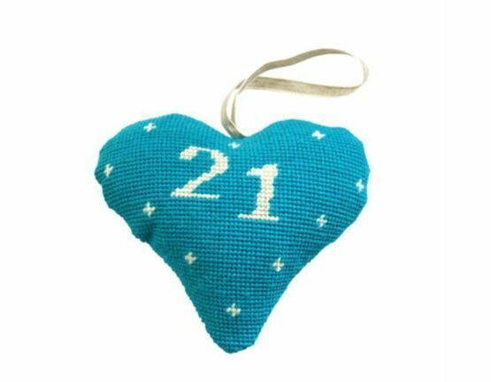 21st Birthday Celebration Heart Tapestry Kit