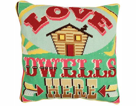 Love Dwells Here Tapestry Cushion Panel Kit