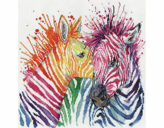Colourful Zebras Cross Stitch Kit