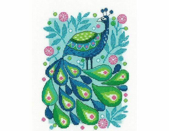 Peacock Cross Stitch Kit