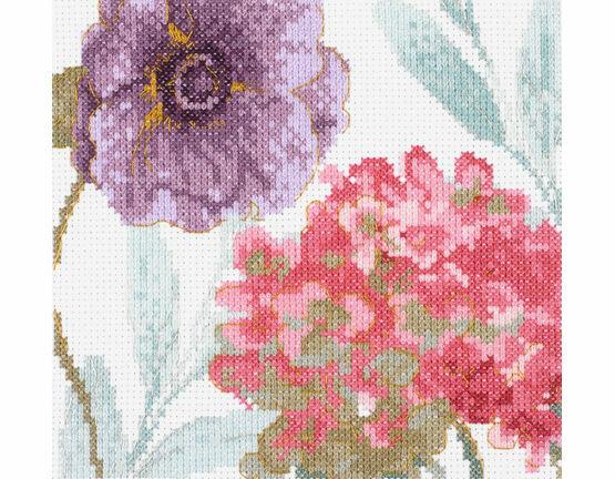 Rainbow Seeds Flowers V Cross Stitch Kit