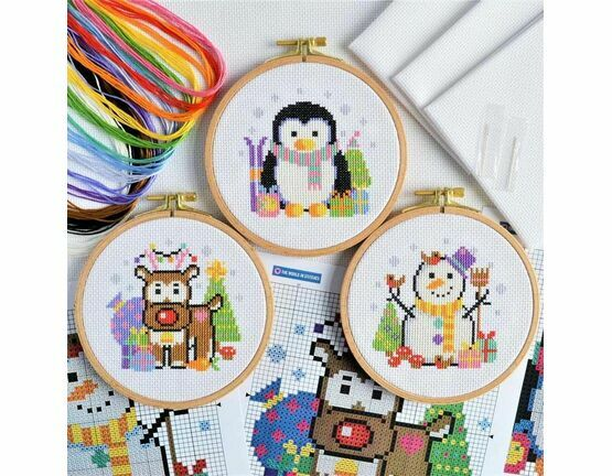 Christmas Trio Cross Stitch Kits