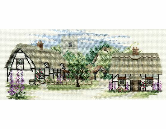 Foxglove Lane Cross Stitch Kit