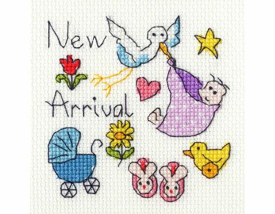 New Baby Cross Stitch Card Kit