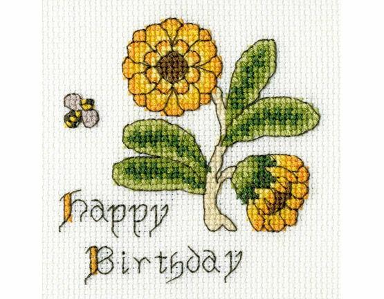 Marigold Cross Stitch Card Kit
