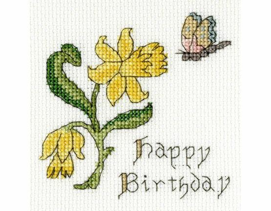 Daffodil Cross Stitch Card Kit