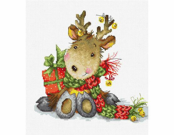 Reindeer Cross Stitch Kit