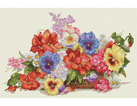 Garden Flowers Cross Stitch Kit