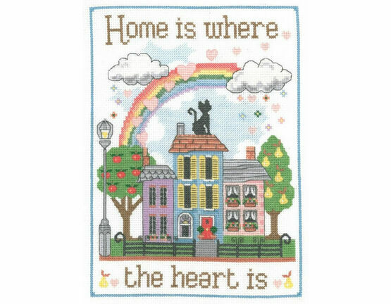 Home Is Where The Heart Is Sampler Cross Stitch Kit