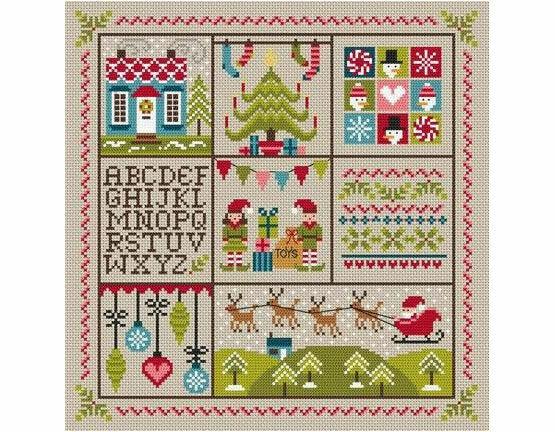 Holly Jolly Christmas Cross Stitch Kit