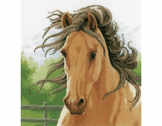 Mane In The Wind Cross Stitch Kit