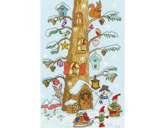 Santa\'s Little Helpers Cross Stitch Kit