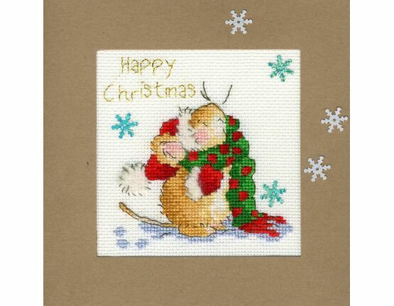 Counting Snowflakes Cross Stitch Christmas Card Kit