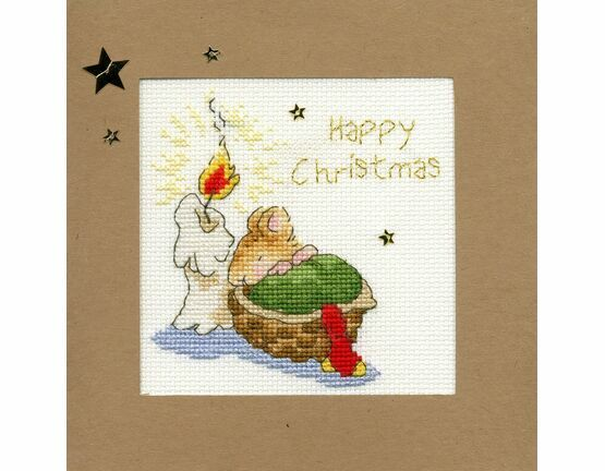 First Christmas Cross Stitch Christmas Card Kit