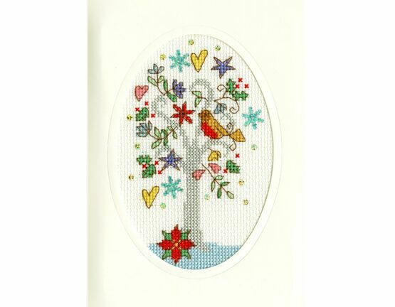 Winter Wishes Cross Stitch Christmas Card Kit