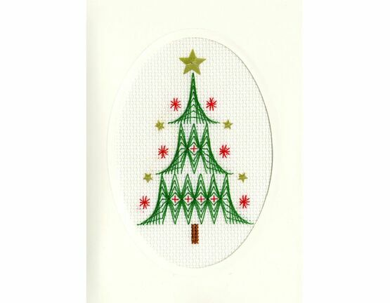 Christmas Tree Cross Stitch Card Kit