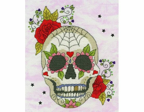 Sugar Skull Cross Stitch Kit