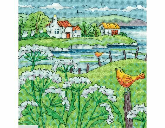 Cow Parsley Shore Cross Stitch Kit