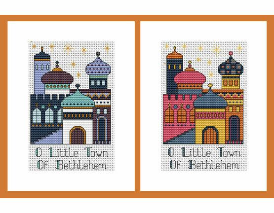 Bethlehem Set Of 2 Cross Stitch Christmas Card Kits