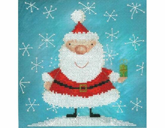 Santa Claus & Snowflakes Cross Stitch Kit