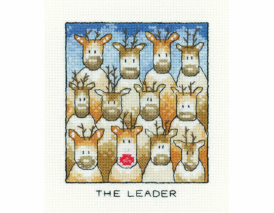 The Leader Christmas Reindeer Cross Stitch Kit