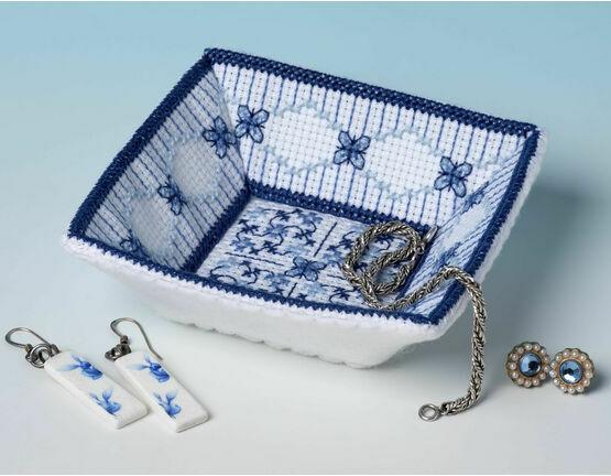 Lapis Lazuli Trinket Tray 3D Cross Stitch Kit