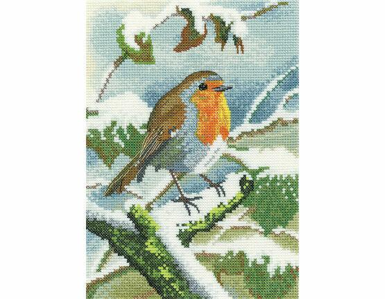 Robin In Winter Cross Stitch Kit