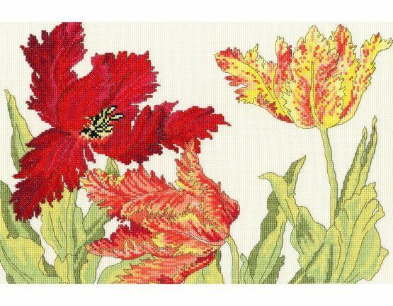 Tulip Blooms Cross Stitch Kit