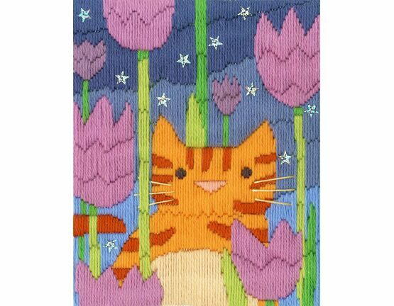 Tiger The Cat Long Stitch Kit