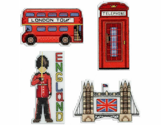 England Magnets Cross Stitch Kit